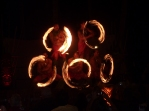 Five fire dancers!